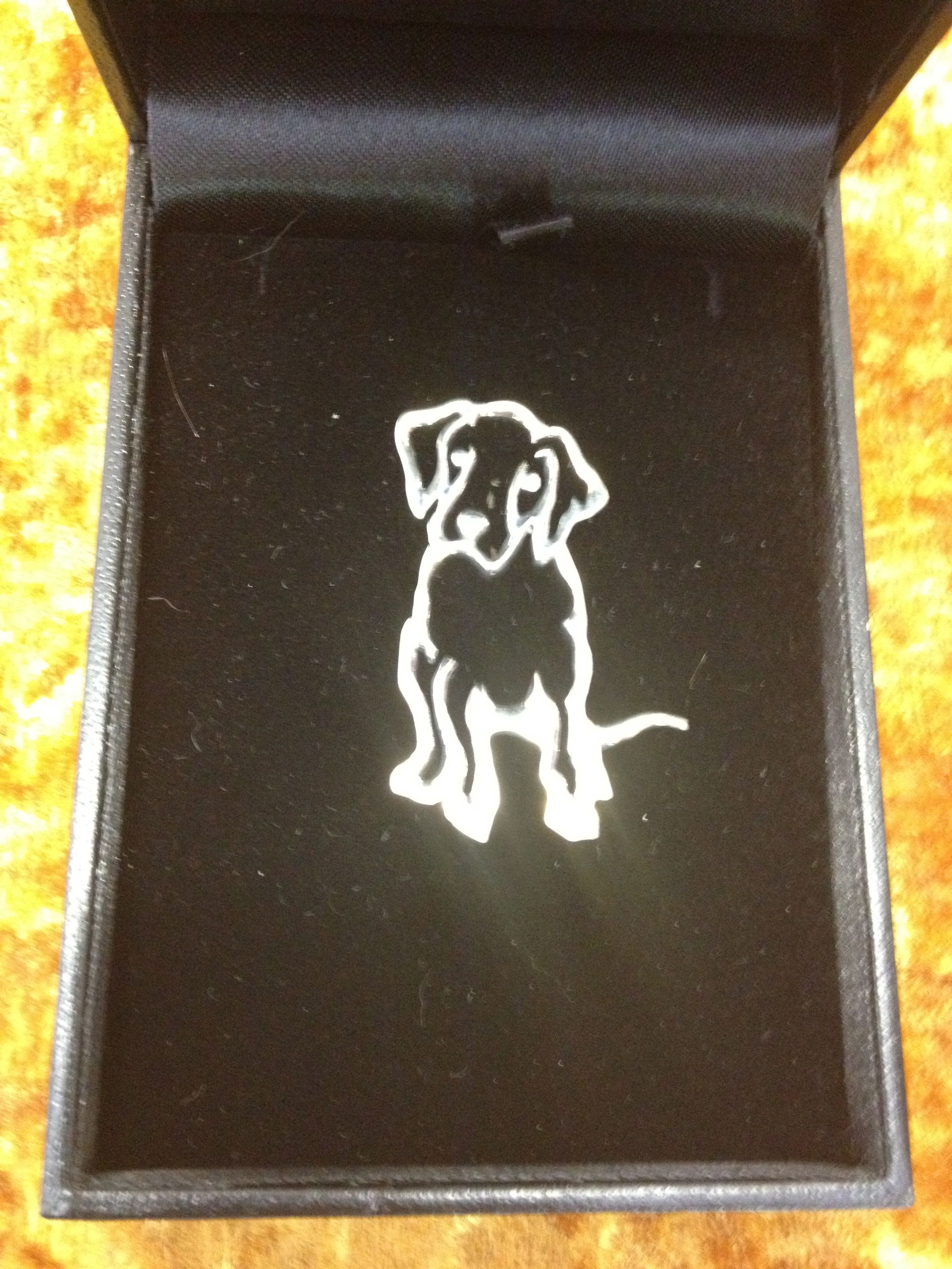 Silver Great Dane Puppy Broach – £